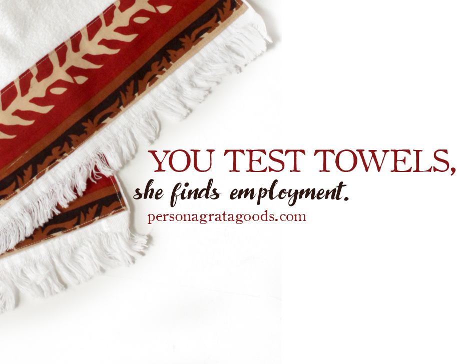 Want some towels? We need testing help!