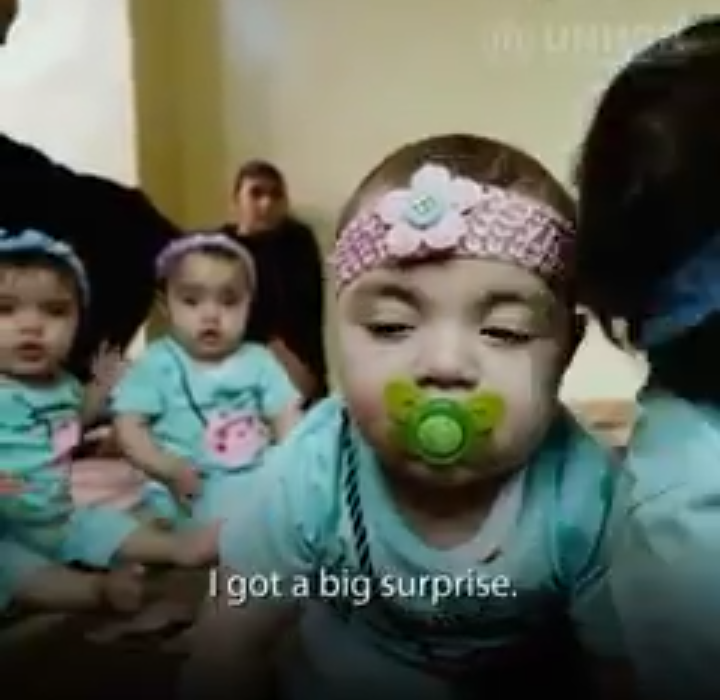 Beautiful story of Syrian Refugee Quadruplets