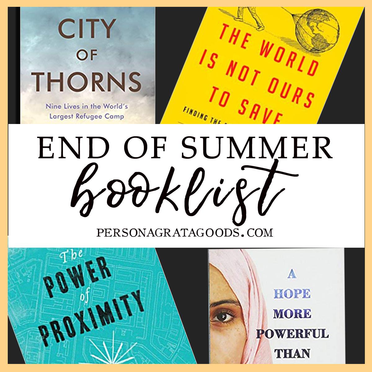 End of Summer Book List
