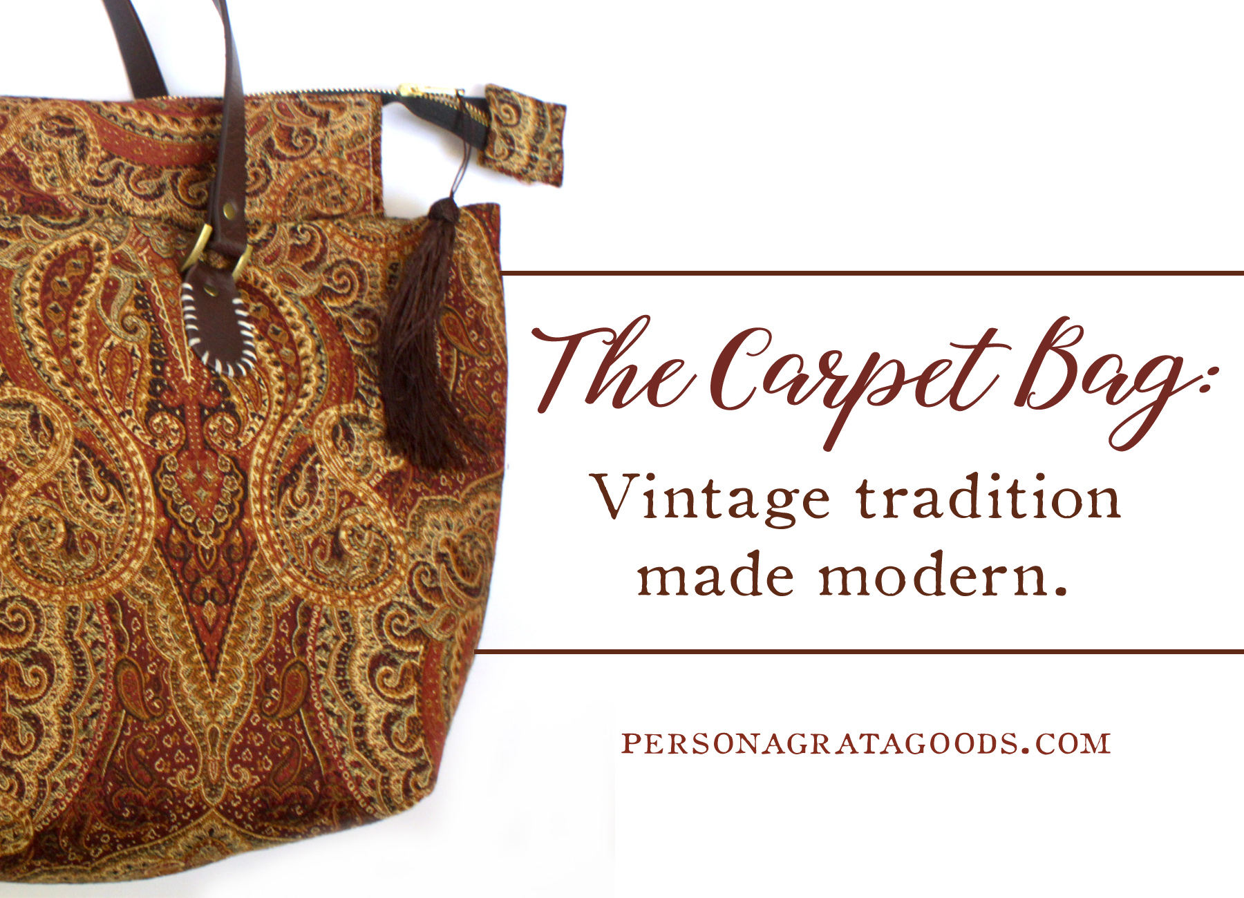 Carpet Tapestry Bags – From Downton Abbey to Now